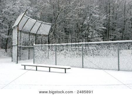Snowy Ball Field