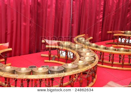 Round Shape Gongs - One Of Traditional Thai Musical Instruments