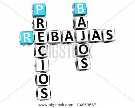 3D Precios Bajos Rebajas Crossword