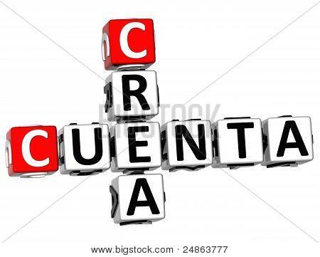 3D Crea Cuenta Crossword