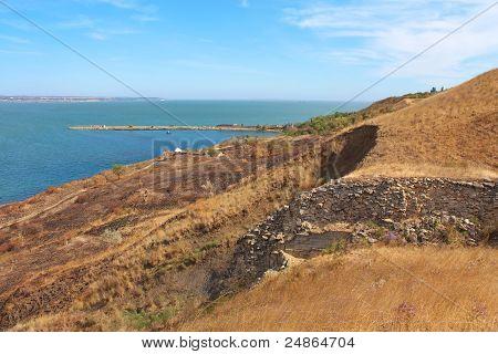 Mountain Precipice Near A Sea Coast