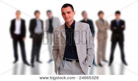 Geschäftsleute over white background