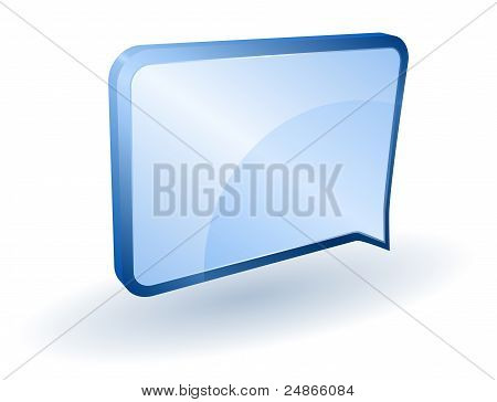 Message or notification vector icon