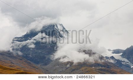 Matterhorn Hidden In Rain Clouds