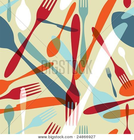 Cutlery Transparent Silhouette Pattern Background