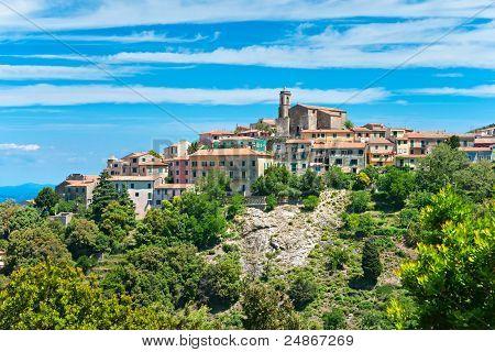 View Of Poggio, Marciana, Elba Island, Italy.