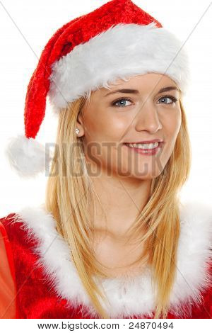 christmas woman, portrait