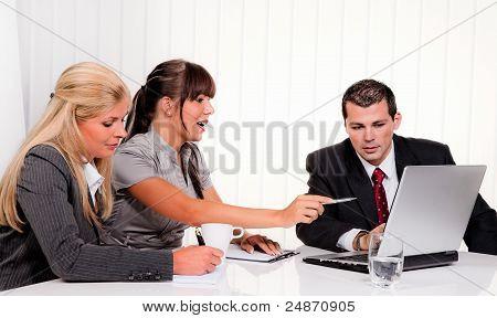 successful team in a meeting