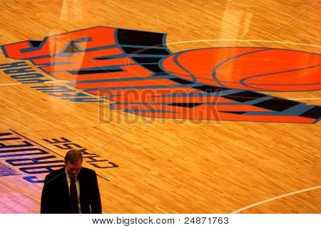 mike d'antony during during NBA knicks match at madison square garden