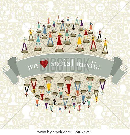 Wir lieben Social Media Netzwerk