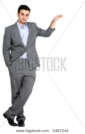 Business Man Displaying