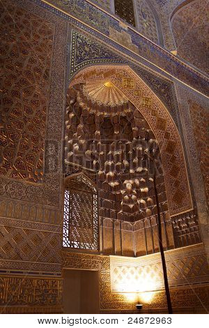 Golden Interior Of Guri Amir