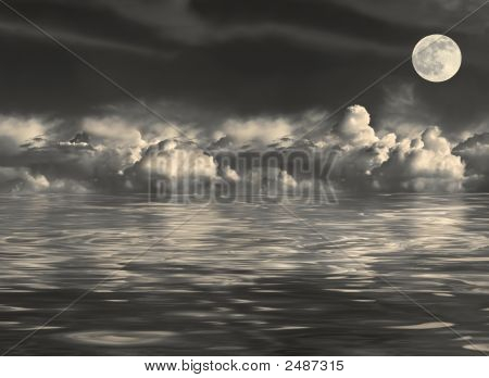 Moonlit Seascape