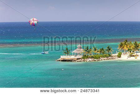 Parasailing In Ocho Rios, Jamaica