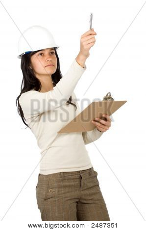 Female Architect In Action