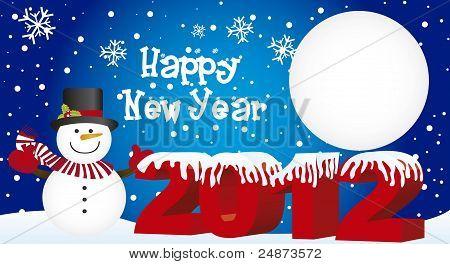snowman new year