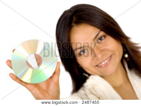Business Woman Holding Data