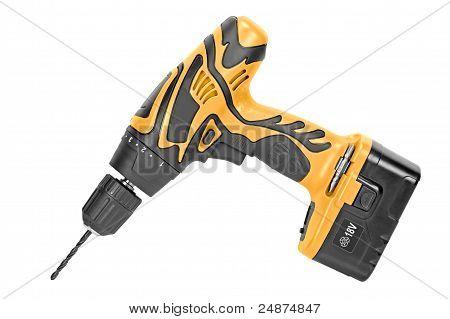 Yellow Cordless Drill.