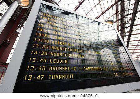 Train Station Departure Display