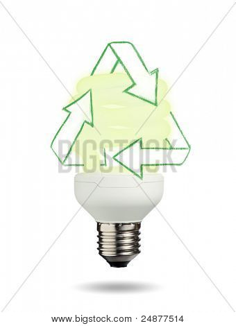 Light bulb on a white background