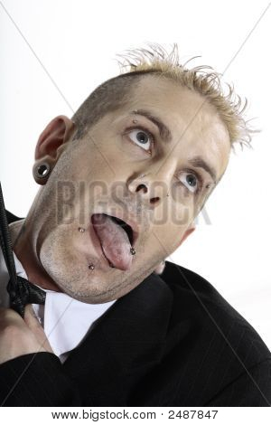 Businessman With Piercing
