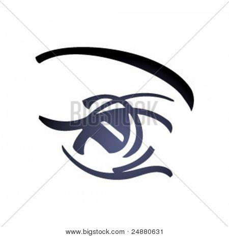 Woman Eye - Glamor- vector art