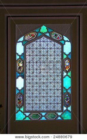 Vitrage (Glasmalerei, Glaskunst) In einem Renaissancehaus
