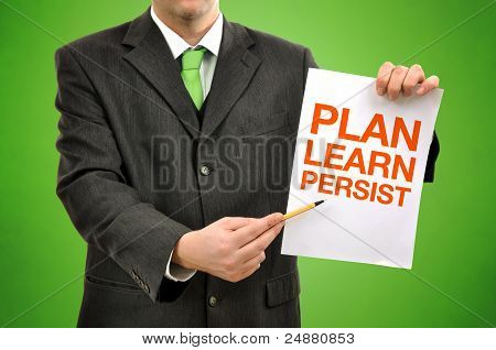 Businessman With Marketing Strategy