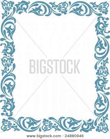 Decoration - stylized floral frame with corners. Can be extended by repeating elements