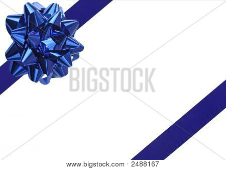 Blue Gift Wrapping Bow