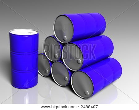 Few Blue Barrels