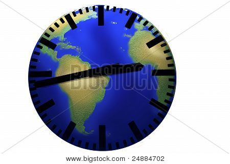 World clock.