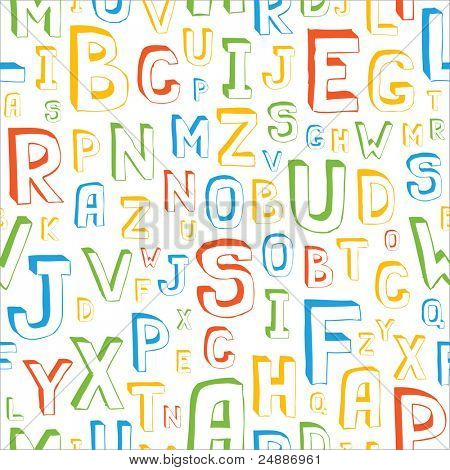 Seamless Alphabet Letters Background