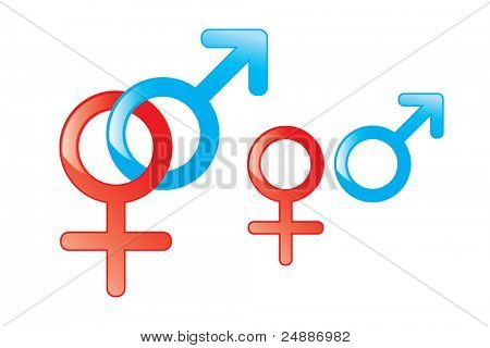 Male and Female Symbols. See vector version in my portfolio