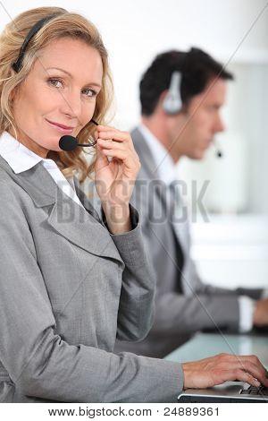 Telesales woman