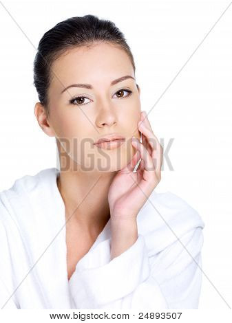 Woman With Healthy Clean Skin