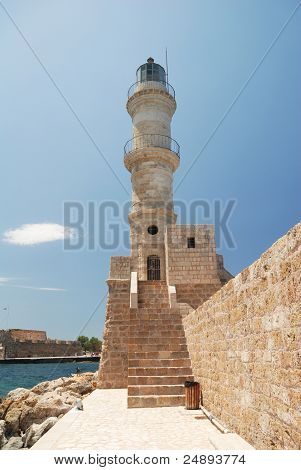 Chania Lighthouse in Crete