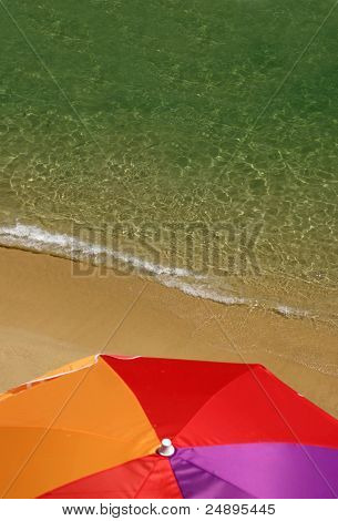 Algarve beach and brolly