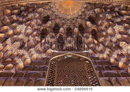 Part Of Golden Ceiling In Guri Amir