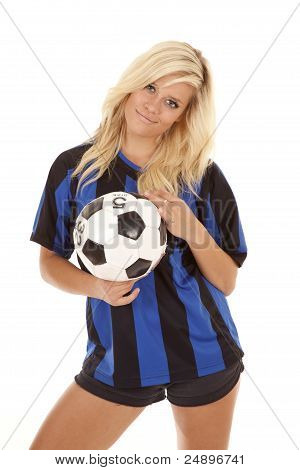 Soccer Woman Ball Pose