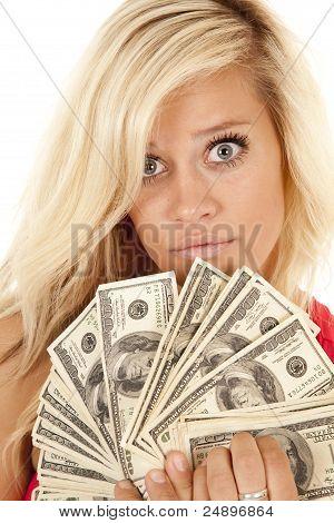 Frau Geld schließen Ernst