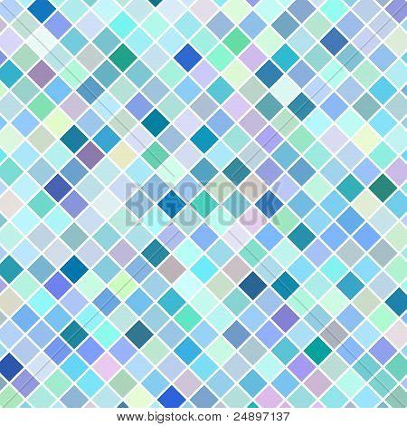 Blue retro mosaic background