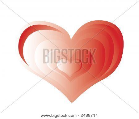 Red Valentine Organic Heart