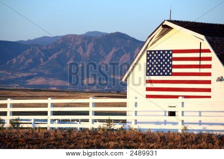Flag Side Of Barn
