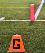 Goal Line On American Football Field