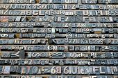 image of lithographic  - Big collection of old retro lithograph letters - JPG