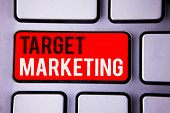 Word Writing Text Target Marketing. Business Concept For Market Segmentation Audience Targeting Cust poster