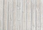 Whitewashed Faded Boardwalk Planks Background Horizontal With Vertical Planks poster