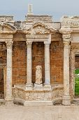 Ruins Of Ancient Greco-roman Theater In Ancient City Hierapolis Near Pamukkale, Turkey poster