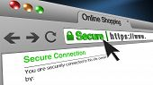 High Resolution 3d Illustration Of Ssl Secure Browser With Text Online Shopping Secure. Great Concep poster